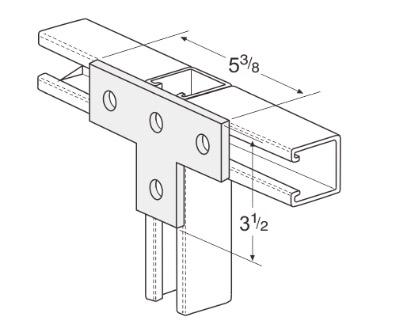 孔平面T型连接件 L1015