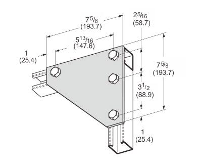 孔平面角连接件 L1019