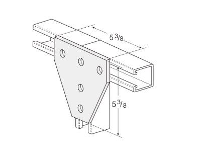 孔平面三通连接件 L1024
