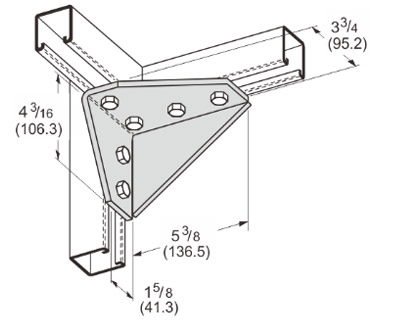 孔直角连接件 (左) L1133