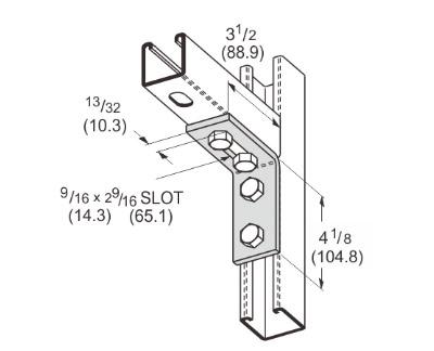 孔直角可调连接件 L1140