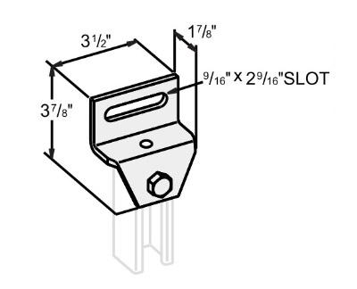 3孔Z型可调连接件 L1401