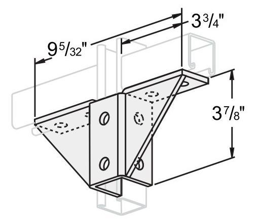 孔双角扣件连接件 L1404
