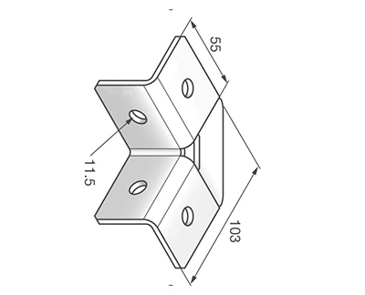 90°直角连接件 L1424
