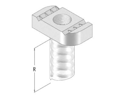 塑封标准弹簧螺母