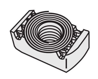 扁弹簧螺母