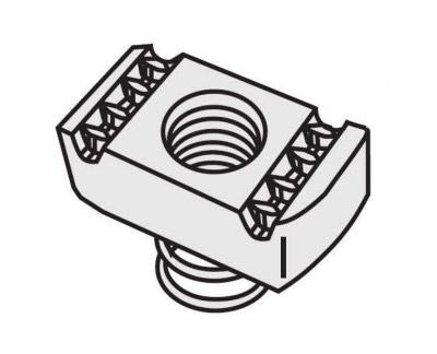 短弹簧螺母