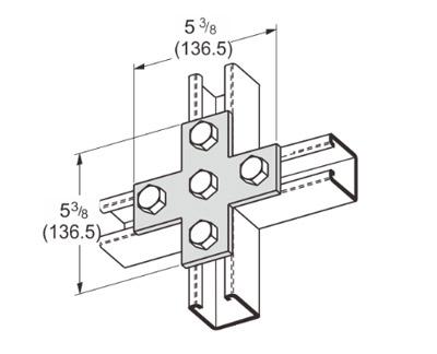 孔平面十字型连接件 L1016