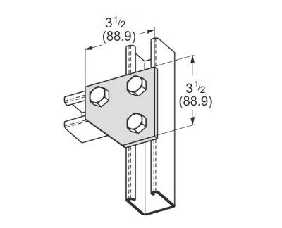 孔平面角连接件 L1017