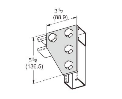 孔平面角连接件 L1018