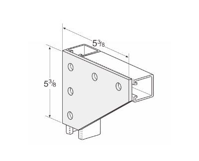 孔平面角连接件 L1020