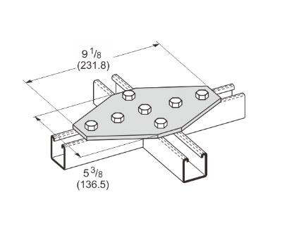 孔平面十字连接件 L1027