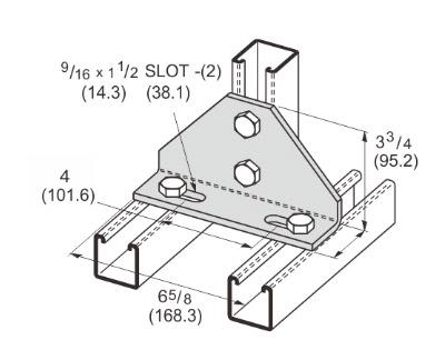 孔直角可调连接件 L1142