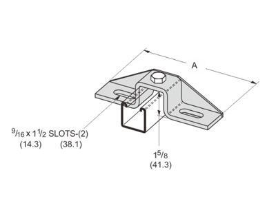 孔U型可调连接件 L1320